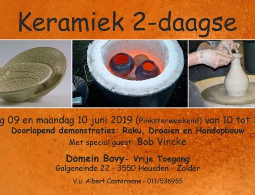 09 en 10 Juni 2019 – Keramiek 2 daagse